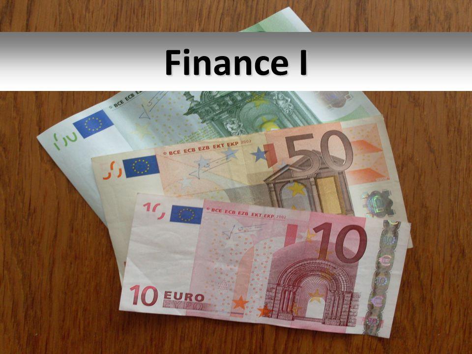 Finance I