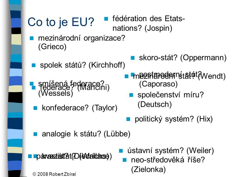© 2008 Robert Zbíral Co to je EU. mezinárodní organizace.