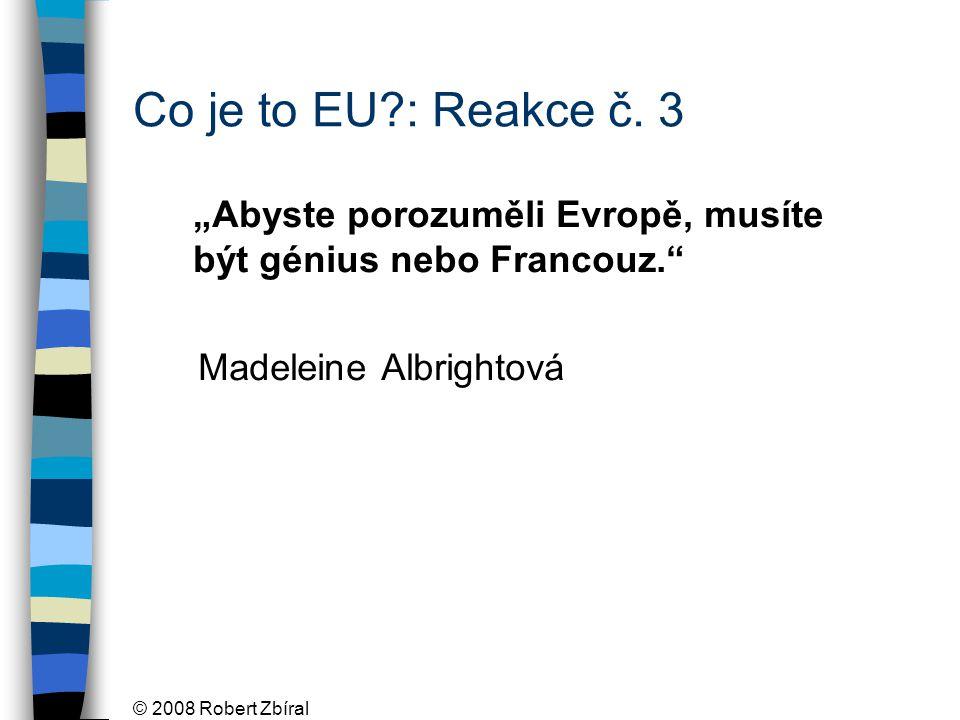 © 2008 Robert Zbíral Co je to EU : Reakce č.