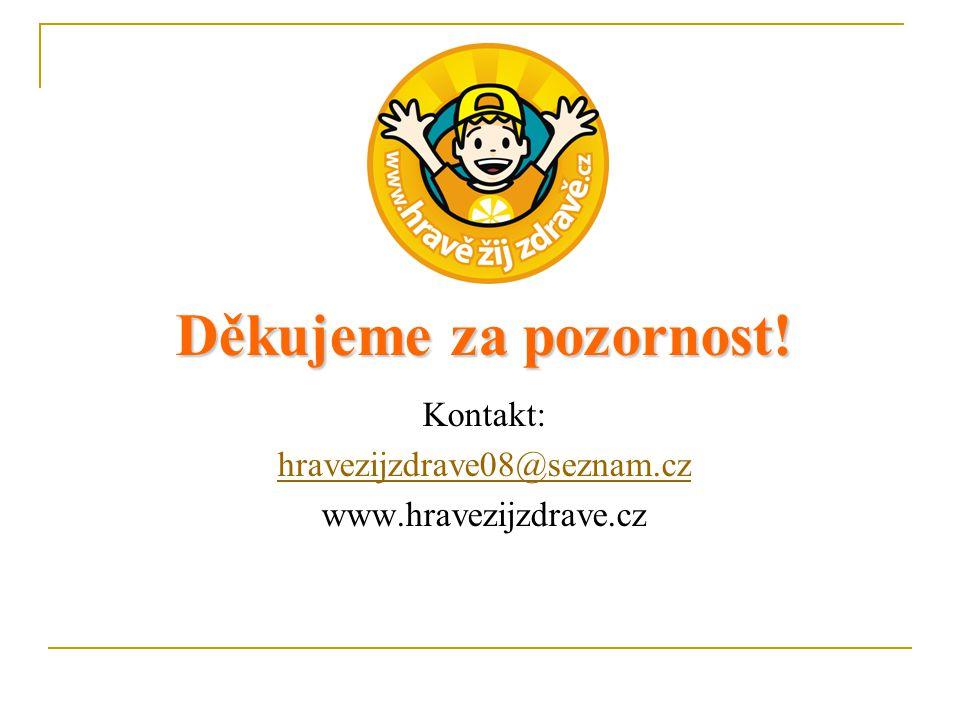 Děkujeme za pozornost! Kontakt: hravezijzdrave08@seznam.cz www.hravezijzdrave.cz