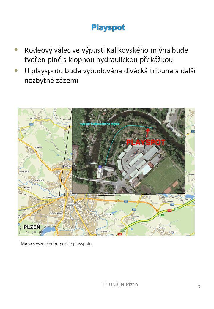 TJ UNION Plzeň 5 Mapa s vyznačením pozice playspotu