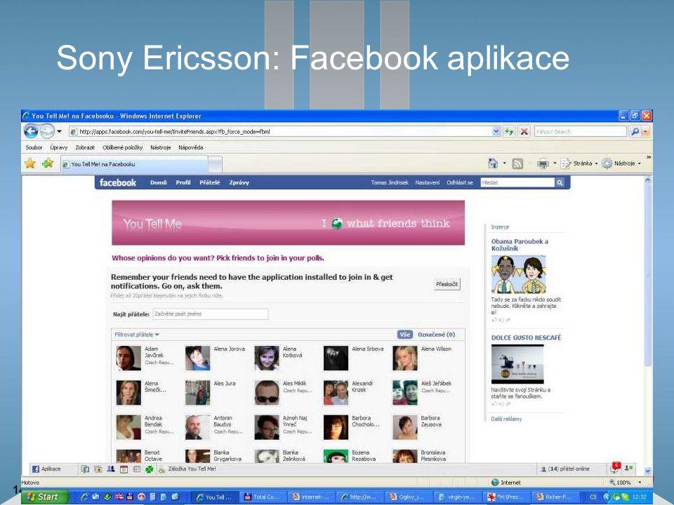 14 Sony Ericsson: Facebook aplikace