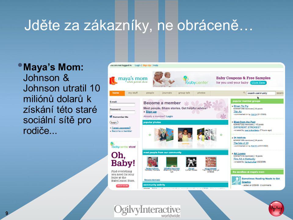 9 Jděte za zákazníky, ne obráceně… Maya's Mom: Johnson & Johnson utratil 10 miliónů dolarů k získání této staré sociální sítě pro rodiče...