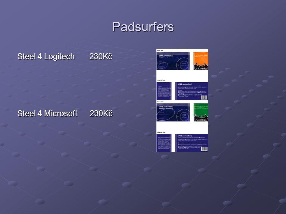 Padsurfers Steel 4 Logitech 230Kč Steel 4 Microsoft 230Kč
