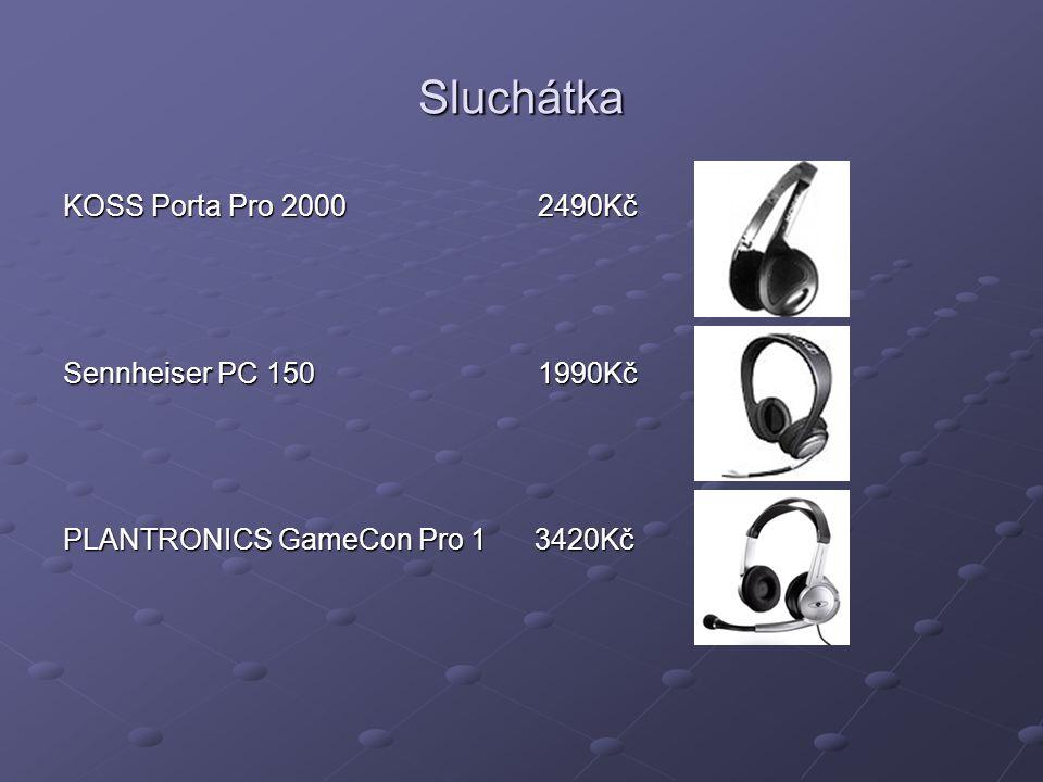 Sluchátka KOSS Porta Pro 2000 2490Kč Sennheiser PC 150 1990Kč PLANTRONICS GameCon Pro 1 3420Kč