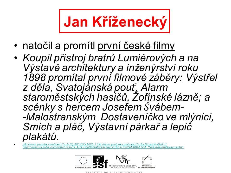 "Použité materiály: www.youtube.com Wikipedia Filmová databáze Časopis ""Cinema"