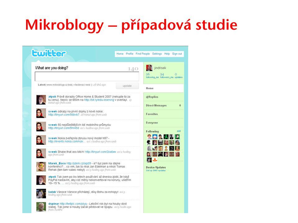 Mikroblogy – případová studie
