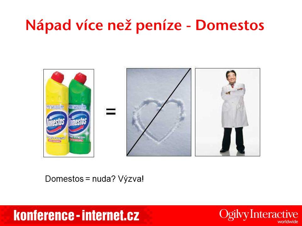 Nápad více než peníze - Domestos Domestos = nuda Výzva!