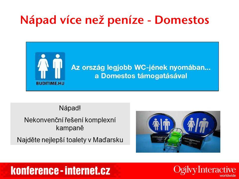 Nápad více než peníze - Domestos Nápad! Nekonvenční řešení komplexní kampaně Najděte nejlepší toalety v Maďarsku