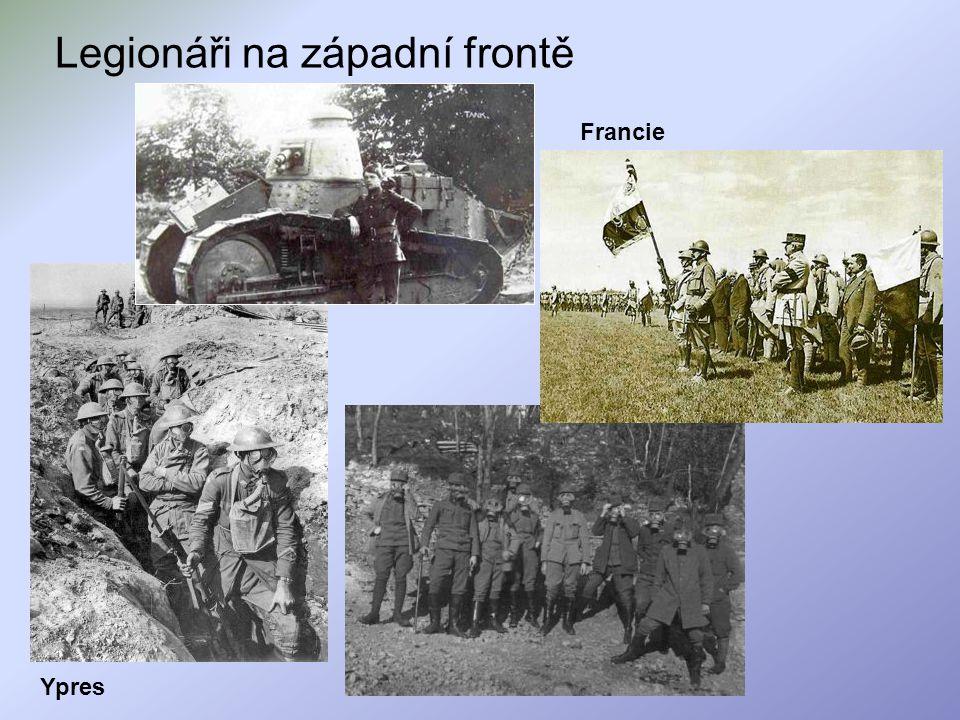 Legionáři na západní frontě Ypres Francie
