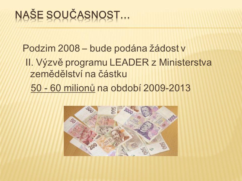 Podzim 2008 – bude podána žádost v II.