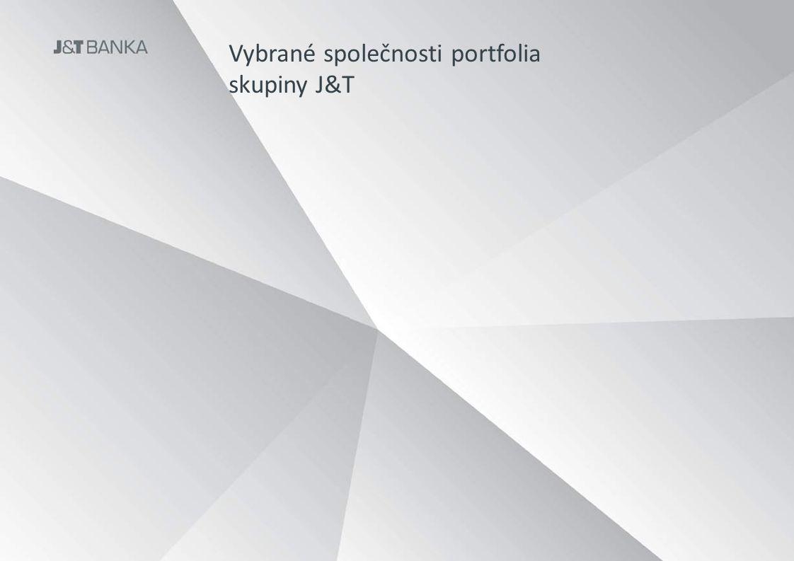Vybrané společnosti portfolia skupiny J&T Použít.ppt template skupiny ne banky! Co takhle v masteru logo v pravém horním nebo levém dolním rohu slidu?