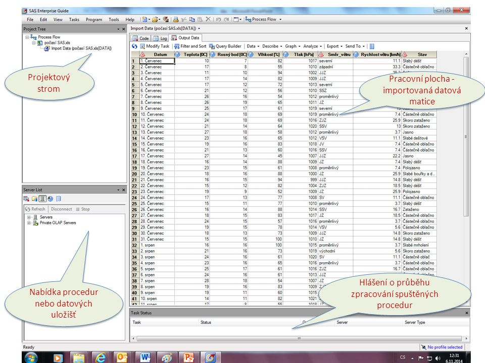 Široká nabídka předchystaných procedur Modul Guide slouží jako nadstavba nad daty původem v MS OFFICE, a to v podobě on-line propojení.