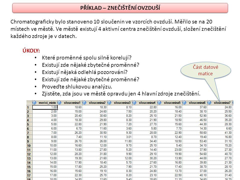 1.KROK popisná statistika summary statistics 1.KROK popisná statistika summary statistics specifikace požadovaných výstupů