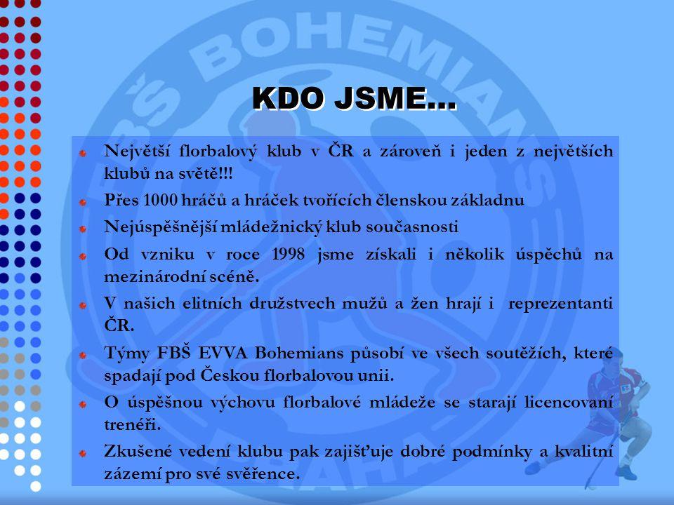 Největší florbalový klub v ČR a zároveň i jeden z největších klubů na světě!!! Přes 1000 hráčů a hráček tvořících členskou základnu Nejúspěšnější mlád