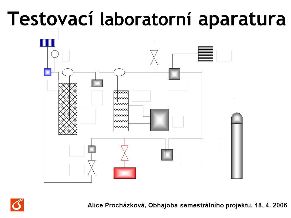 Testovací laboratorní aparatura Alice Procházková, Obhajoba semestrálního projektu, 18. 4. 2006