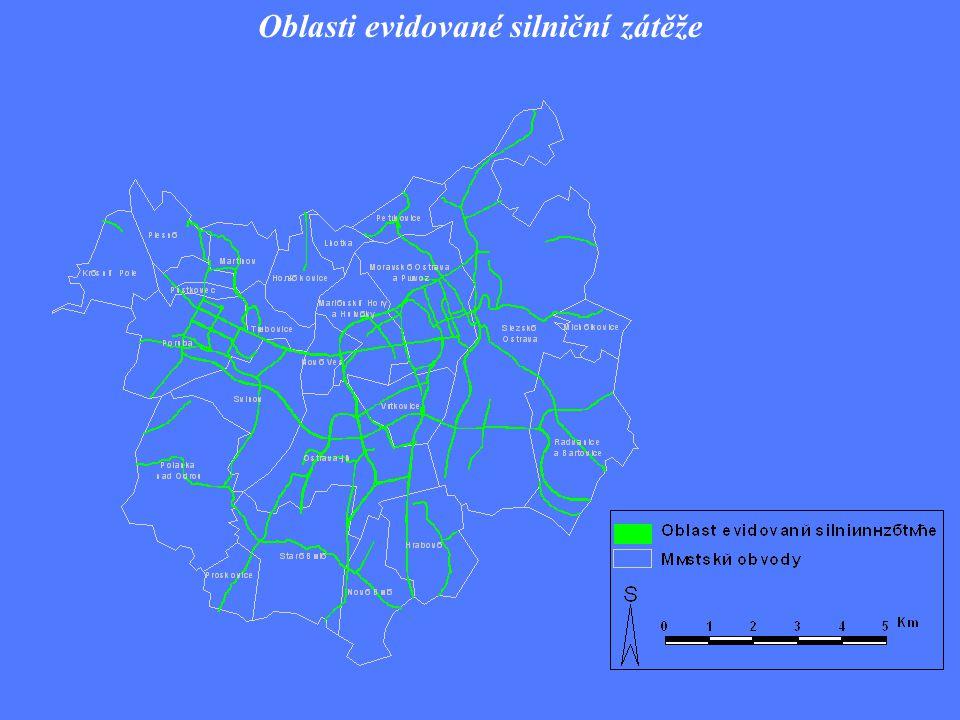 Oblasti evidované silniční zátěže