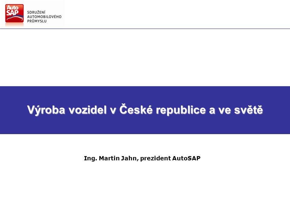 Směry hlavních činností AutoSAP Strategie AutoSAP pro další období Výroba vozidel v České republice a ve světě Ing.