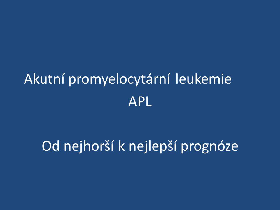 Akutní promyelocytární leukemie APL Od nejhorší k nejlepší prognóze
