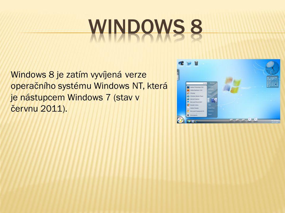Windows 8 je zatím vyvíjená verze operačního systému Windows NT, která je nástupcem Windows 7 (stav v červnu 2011).