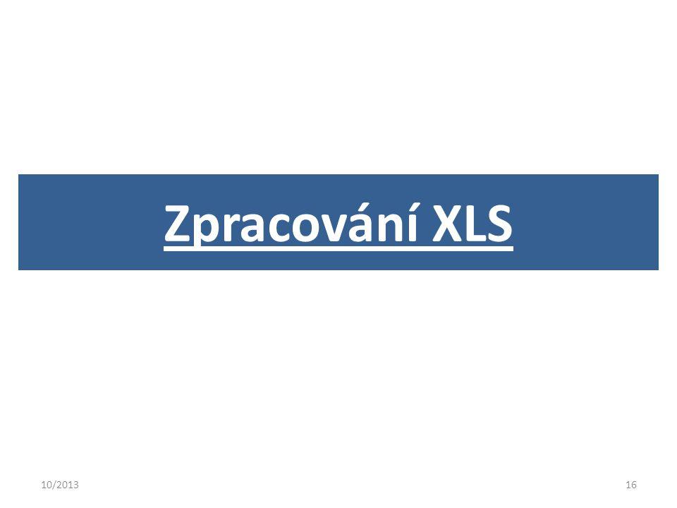 10/201316 Zpracování XLS