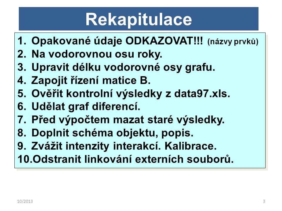 10/20133 Rekapitulace 1.Opakované údaje ODKAZOVAT!!.