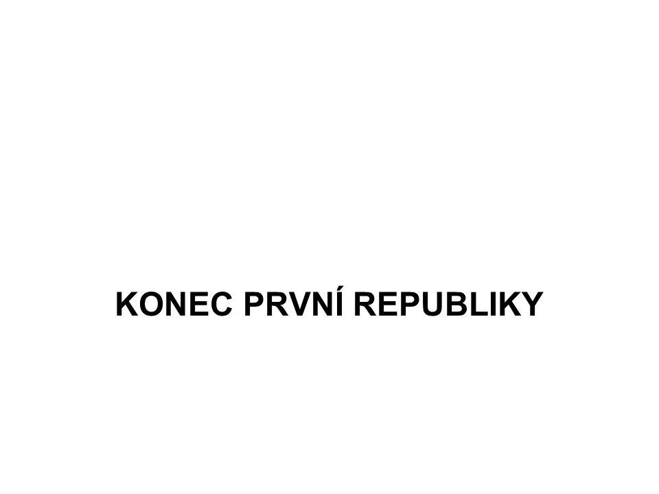 KONEC PRVNÍ REPUBLIKY