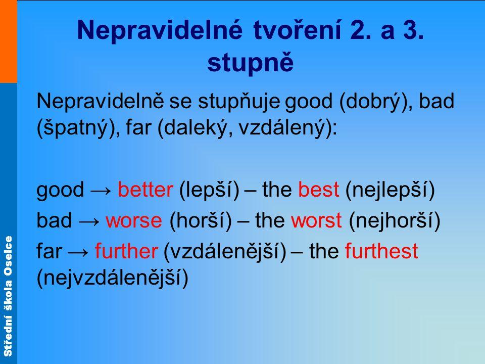 Střední škola Oselce Nepravidelné tvoření 2. a 3.