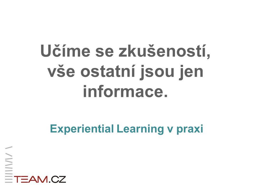 Učíme se zkušeností, vše ostatní jsou jen informace. Experiential Learning v praxi