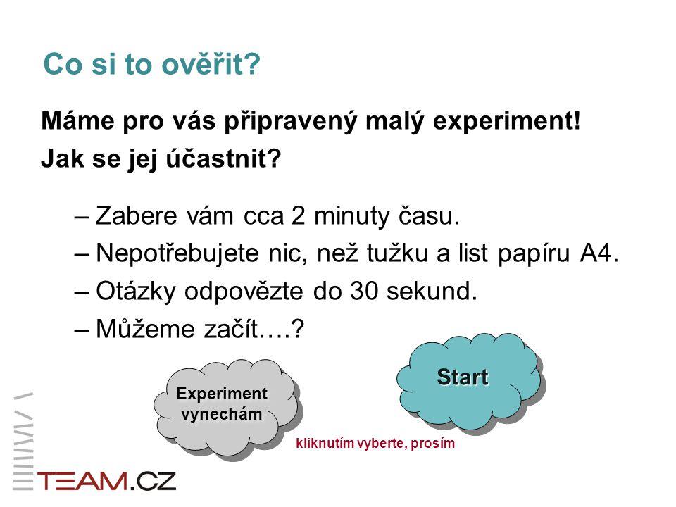 Nechci experimentovat.