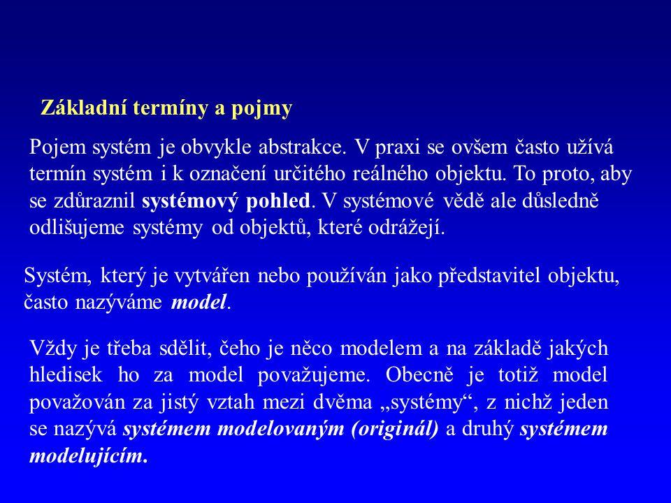 Základní termíny a pojmy Pojem systém je obvykle abstrakce.