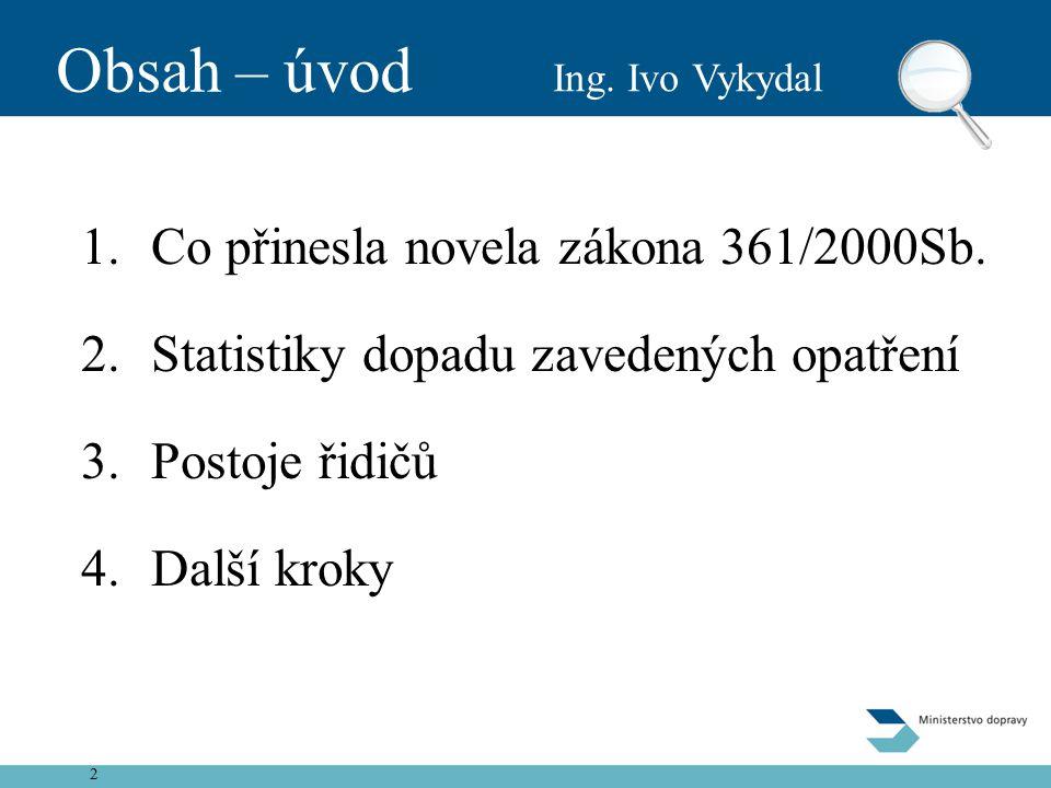 2 Obsah – úvod 1.Co přinesla novela zákona 361/2000Sb.