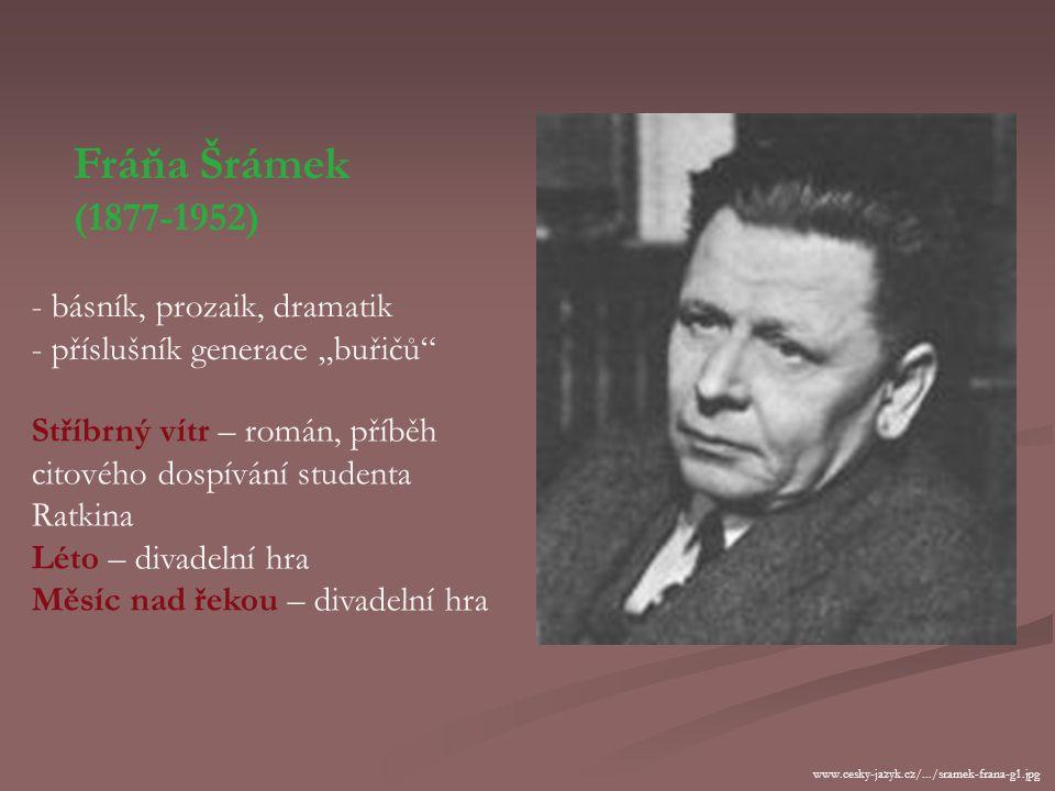 Český impresionismus Antonín Sova (1864-1928) - narodil se v učitelské rodině v jihočeském Pacově - vystudoval práva - úředník Městské knihovny v Praz