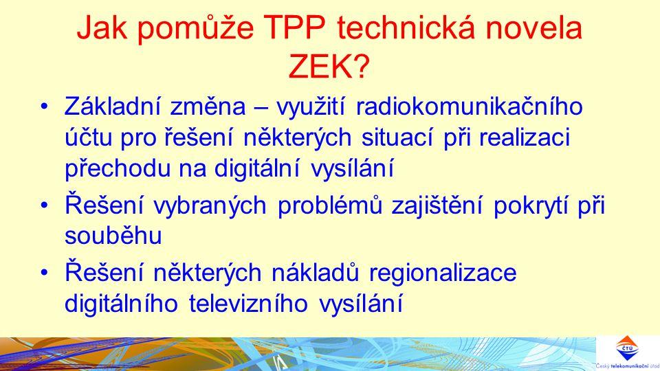 Jak pomůže TPP technická novela ZEK.