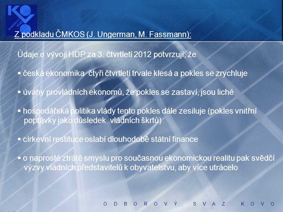 O D B O R O V Ý S V A Z K O V O Názory občanů ČR CVVM, říjen 2012