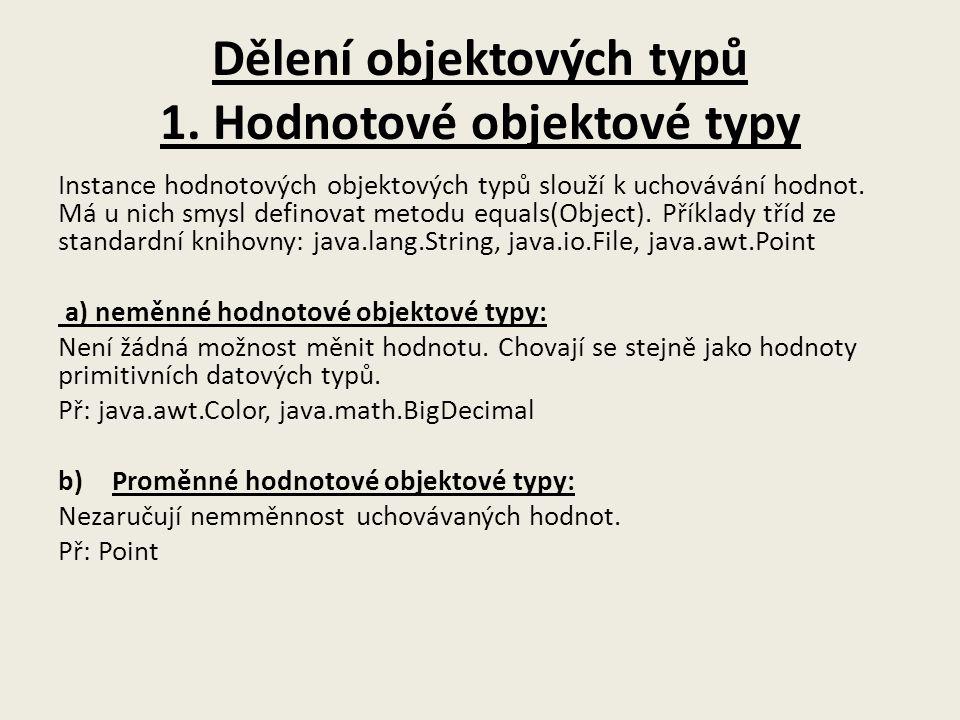 Dělení objektových typů 1.