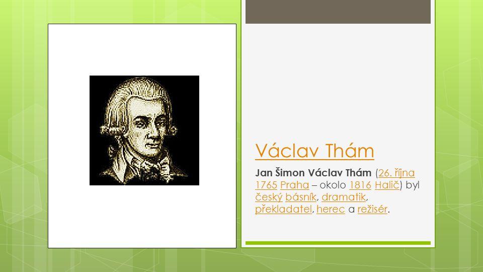 Václav Thám Jan Šimon Václav Thám (26.