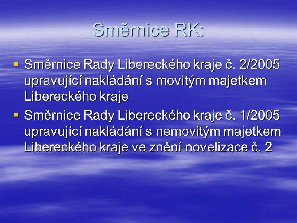 Směrnice RK:  Směrnice Rady Libereckého kraje č.