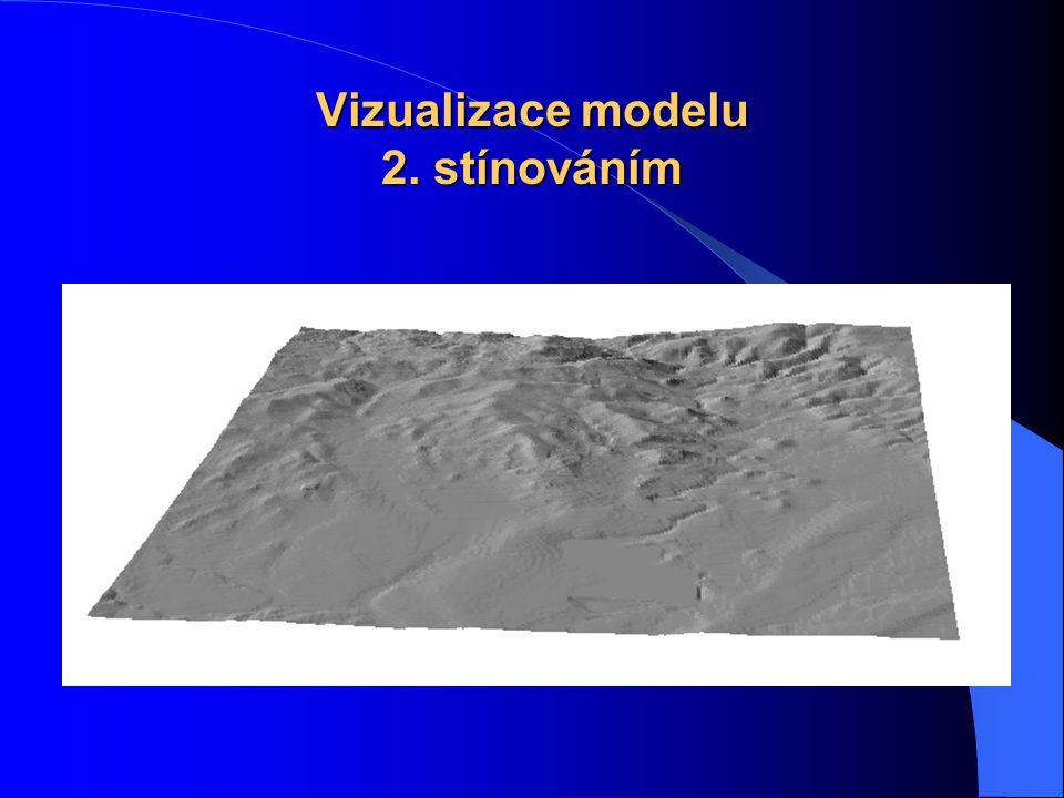 Vizualizace modelu 1. metodou barevné hypsometrie