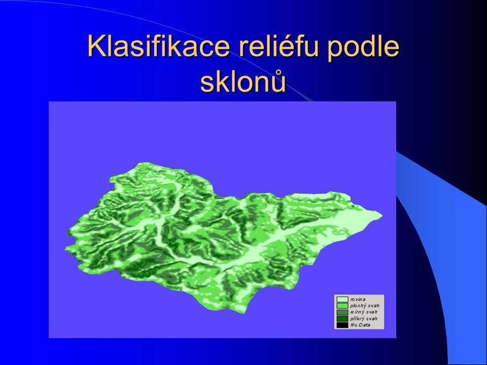 Analýza sklonitosti v povodí