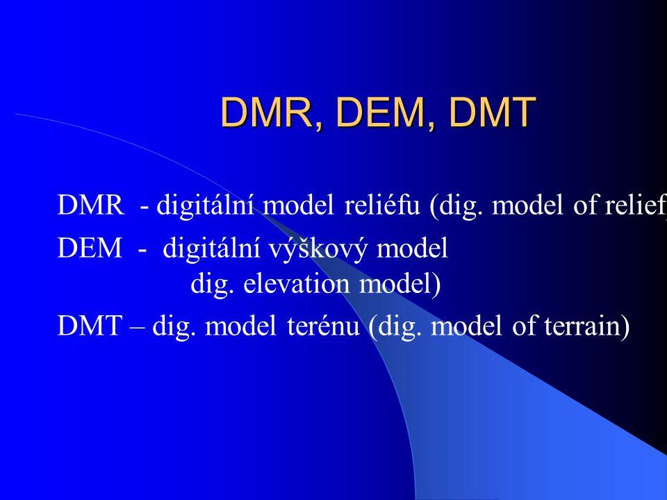 Tvorba digitálních modelů povrchů - z bodového pole - z izolinií - z bodů a izolinií Povrch: reliéf výškové body vrstevnice Povrch: tlakové pole Hodno