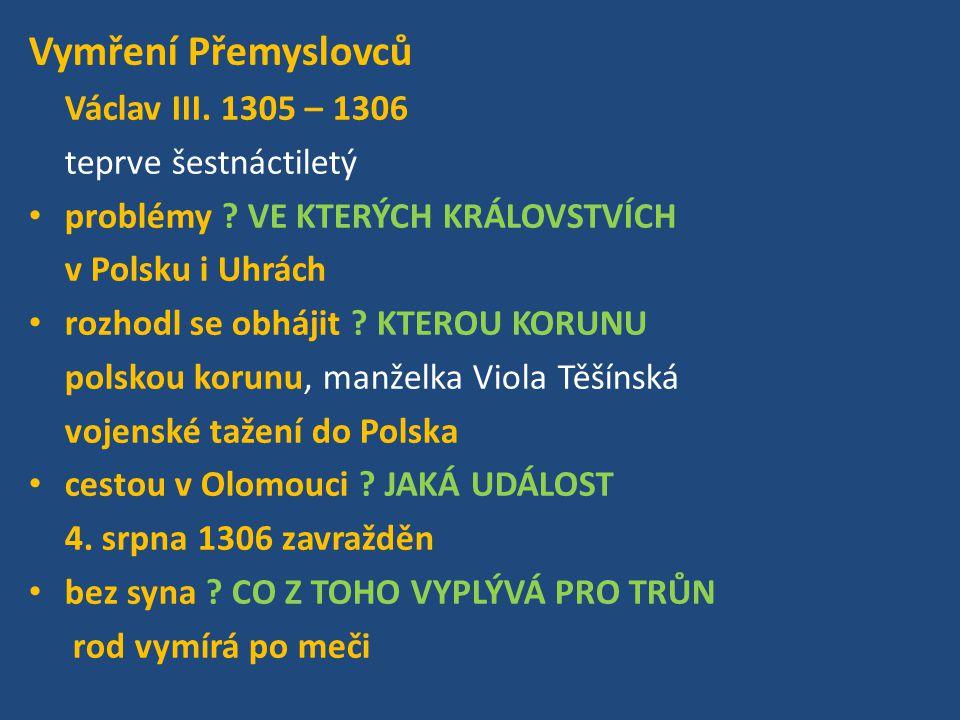 Přemyslovští dědiční králové: Přemysl Otakar I.Václav I.