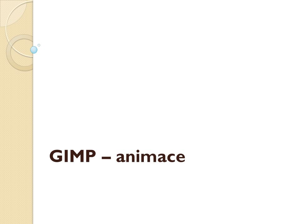 GIMP – animace