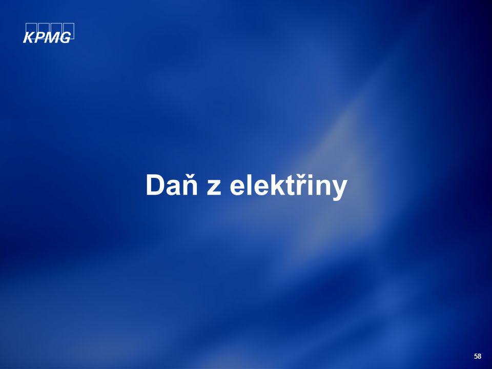 58 Daň z elektřiny