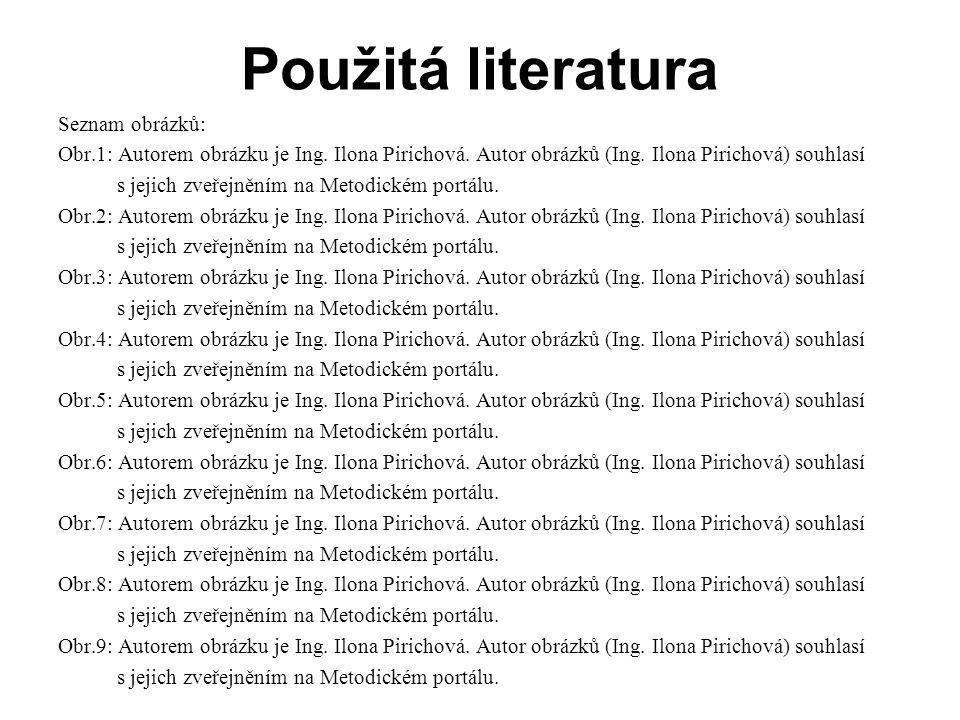 Použitá literatura Seznam obrázků: Obr.1: Autorem obrázku je Ing.