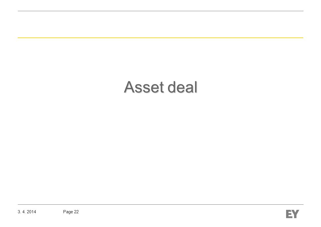 Page 223. 4. 2014 Asset deal
