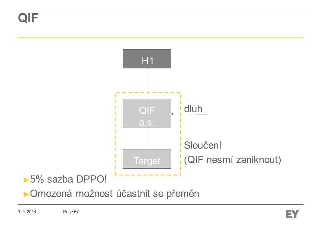 Page 67 QIF H1 QIF a.s.dluh Target ► 5% sazba DPPO.