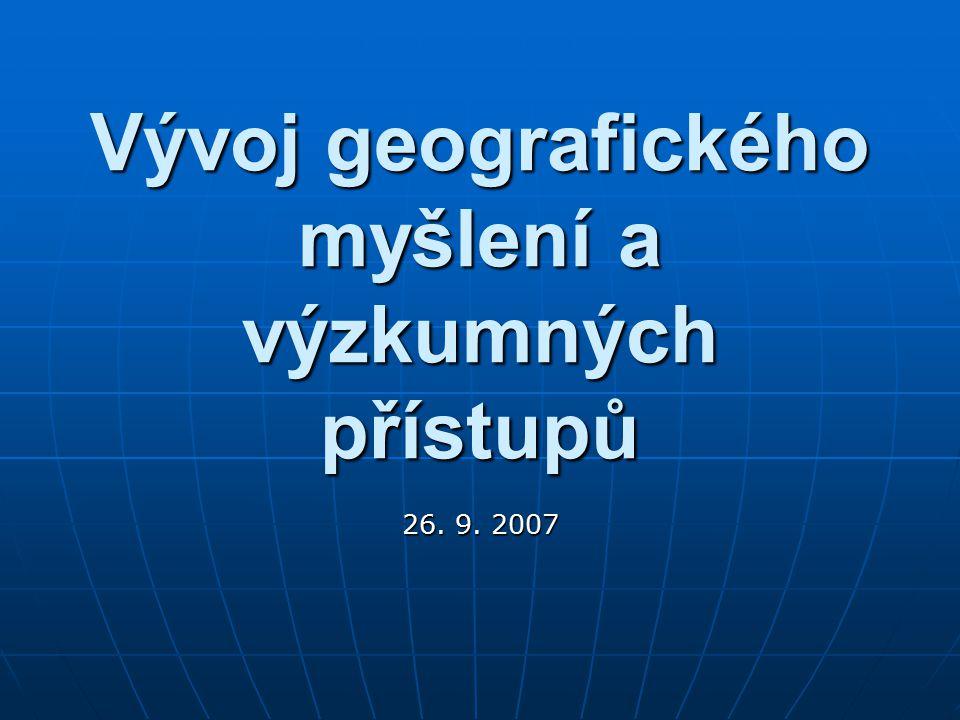Geografie v historii 1.