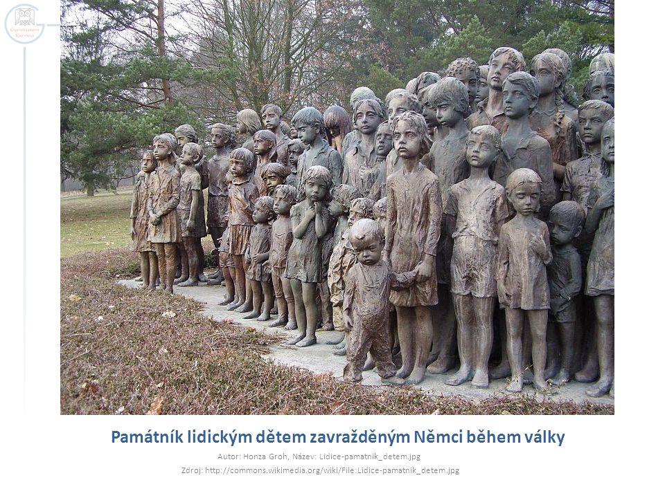 Památník lidickým dětem zavražděným Němci během války Autor: Honza Groh, Název: Lidice-pamatnik_detem.jpg Zdroj: http://commons.wikimedia.org/wiki/Fil