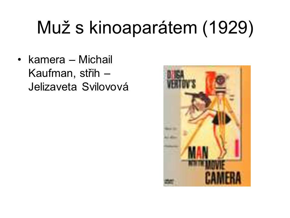 Muž s kinoaparátem (1929) kamera – Michail Kaufman, střih – Jelizaveta Svilovová